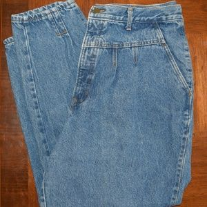 Chic Vintage Tapered High Waisted Mom Jeans